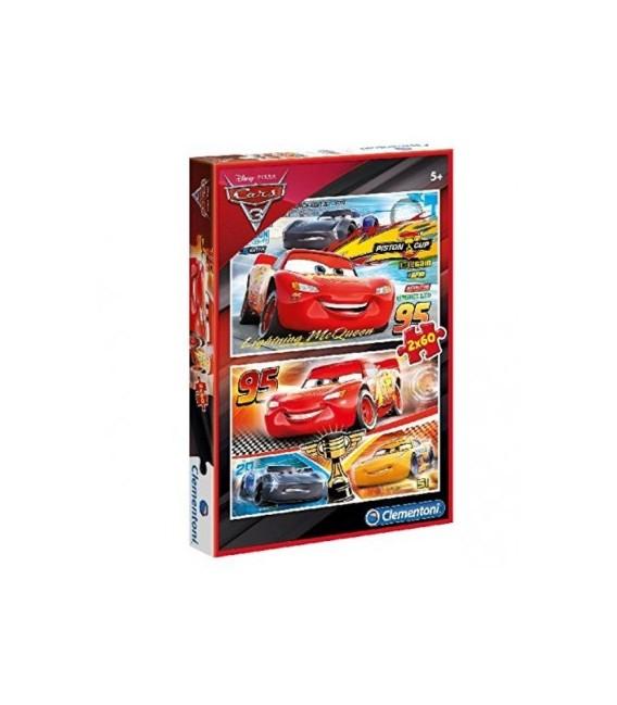 CLEMENTONI PUZZLE SUPERCOLOR 2X60 CARS 3