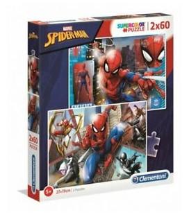 CLEMENTONI PUZZLE 2X60 SPIDER-MAN